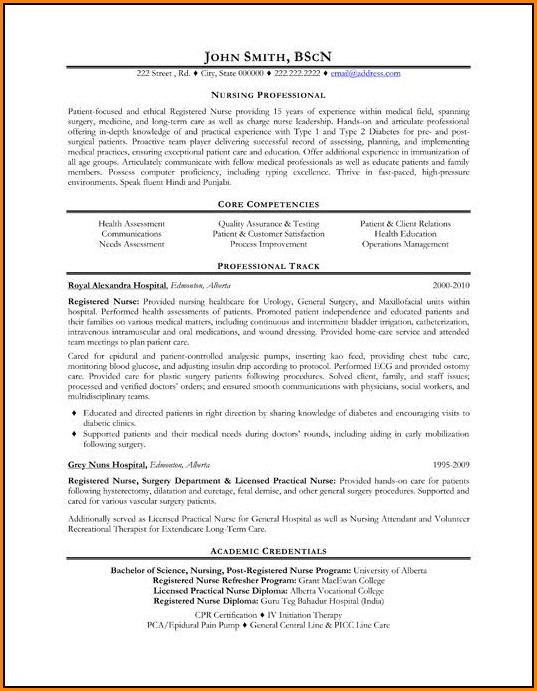 Professional Nursing Resume Template