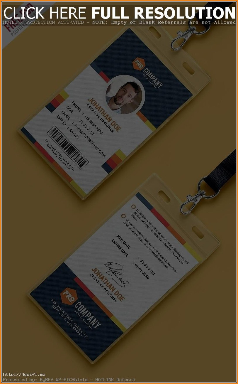 Pvc Id Card Design Template