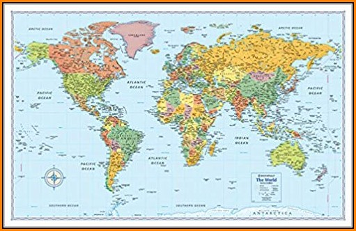 Rand Mcnally World Map Laminated