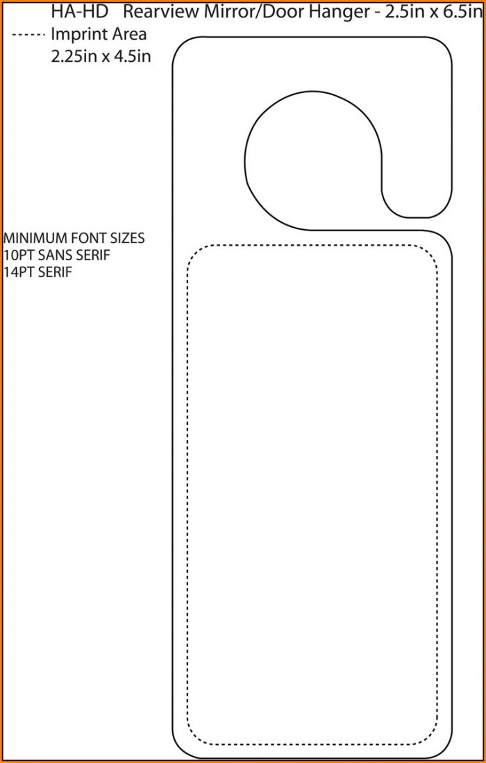 Rear View Mirror Hanger Template