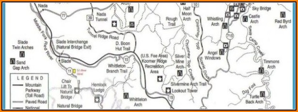 Red River Gorge Trail Map Pdf