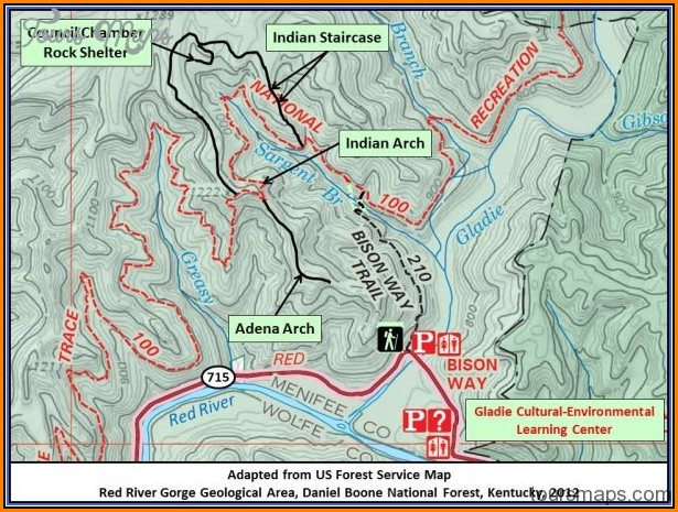 Red River Gorge Trail Map