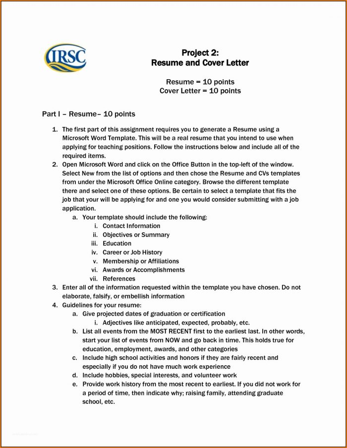 Resume And Cover Letter Templates For Microsoft Word