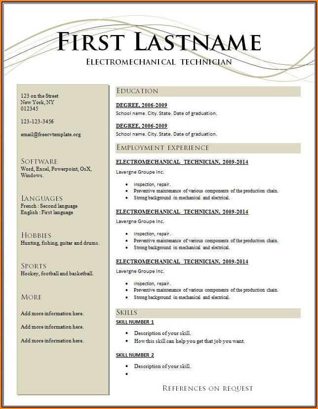 Resume Builder Online Free Download