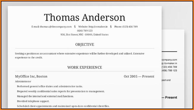 Resume Builder Online Free