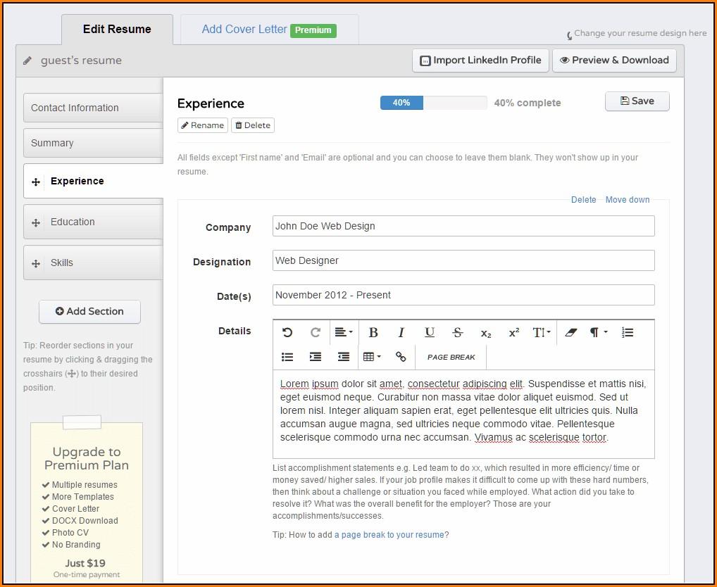 Resume Builder Reviews