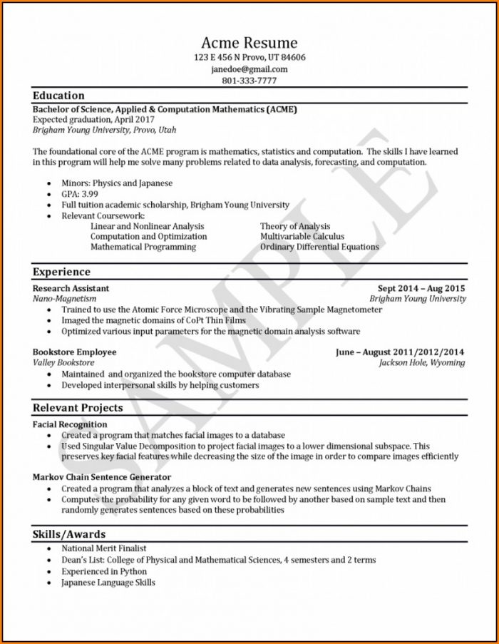 Resume Editing Services Canada