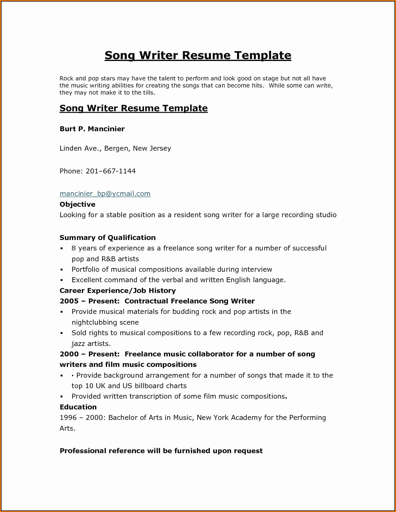 Resume Editing Services Free