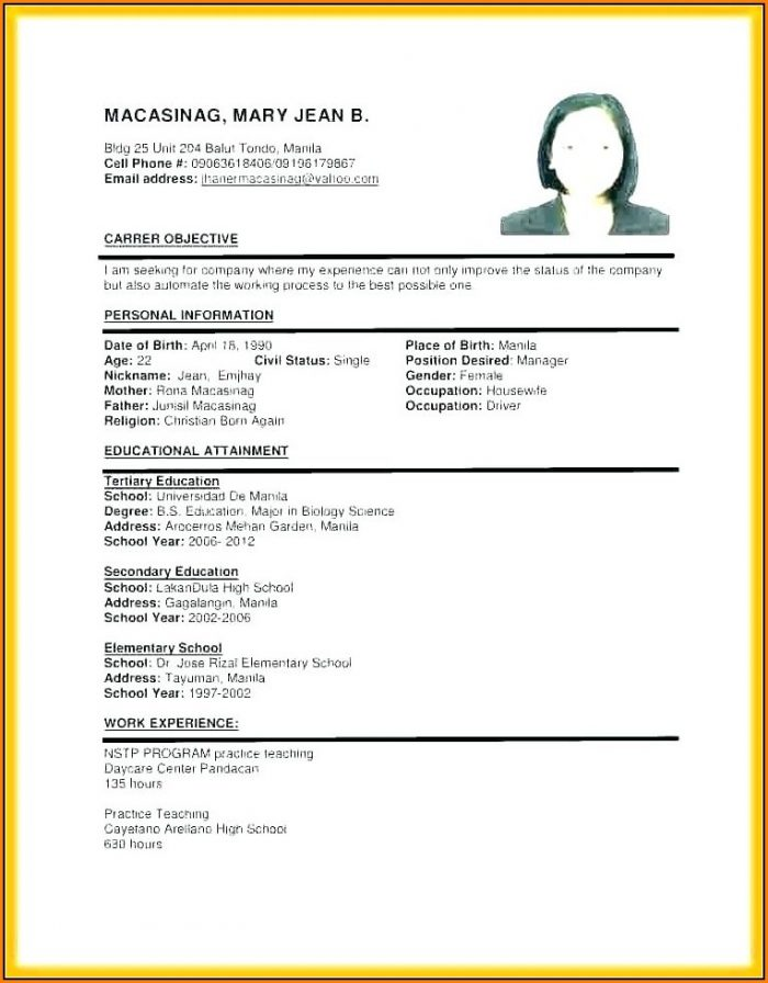 Resume For Dummies Pdf Free Download