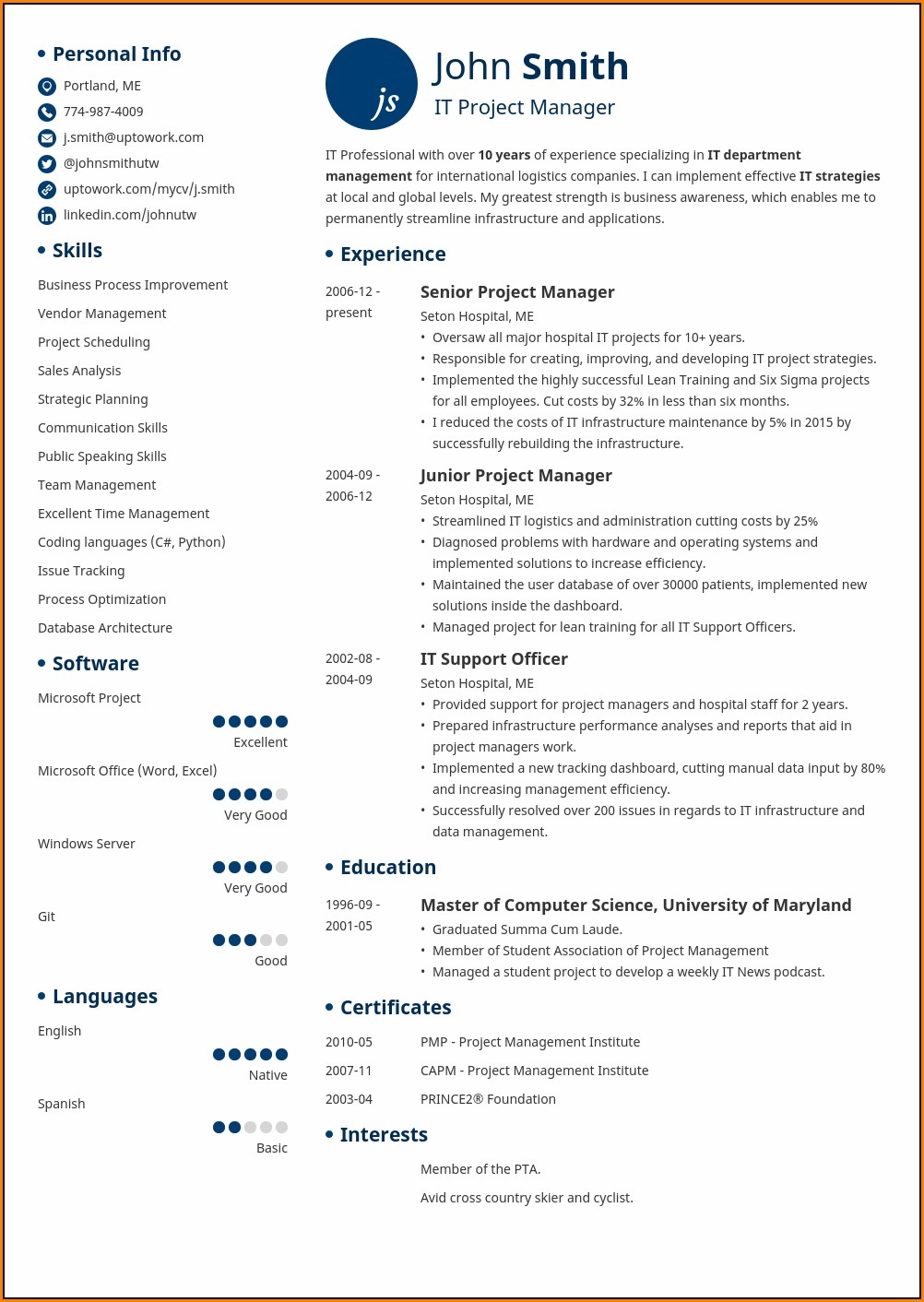 Resume Maker Professional 11.0