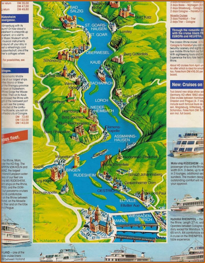 Rhine River Cruise Map