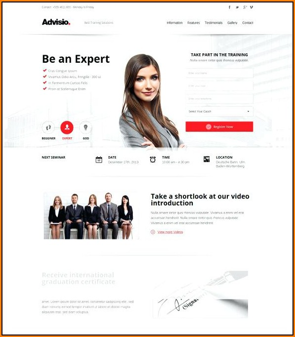Sample Mlm Website Templates