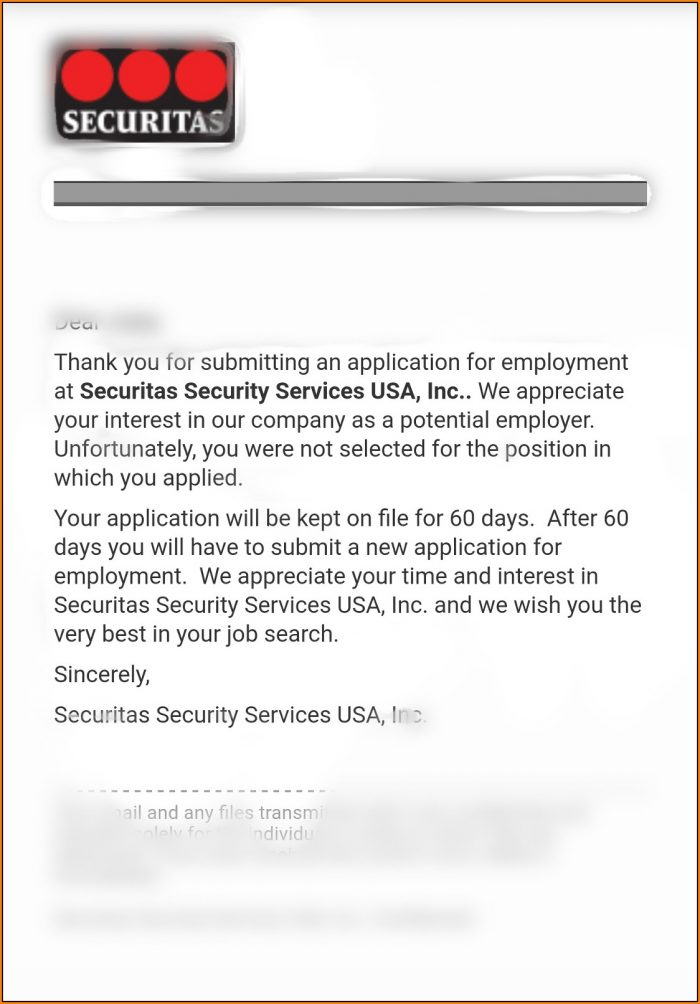 Securitas Job Application Form