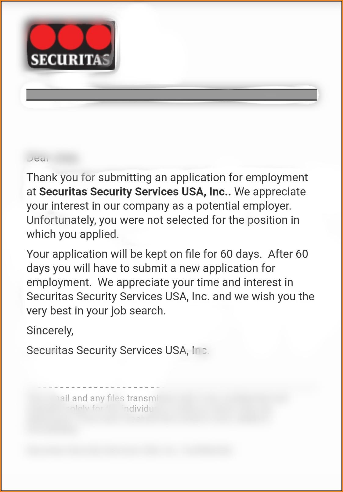 Securitas Job Application Form