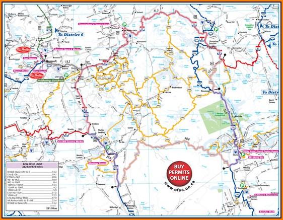 Snowmobile Trail Maps Ontario