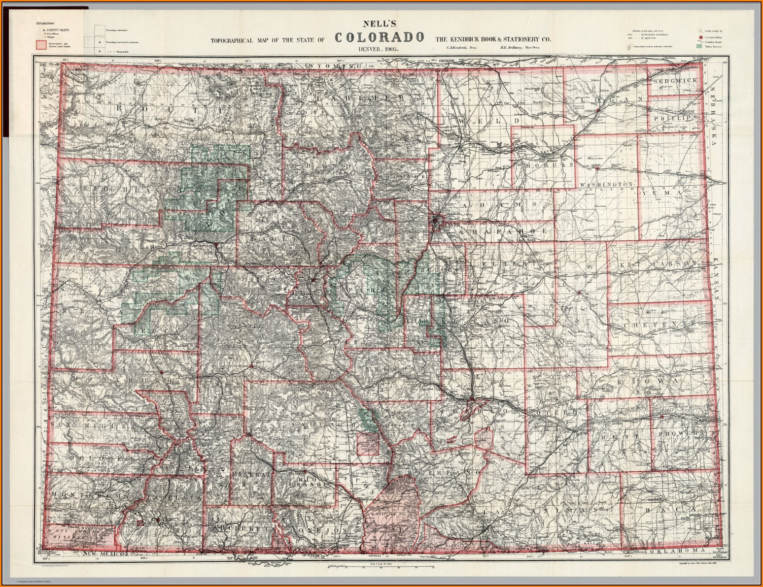 Topographical Map Of Colorado