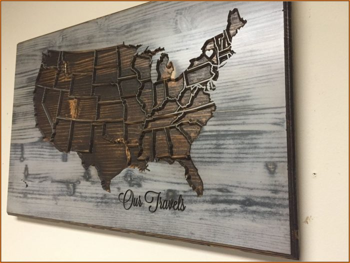 United States Map Wall Decor