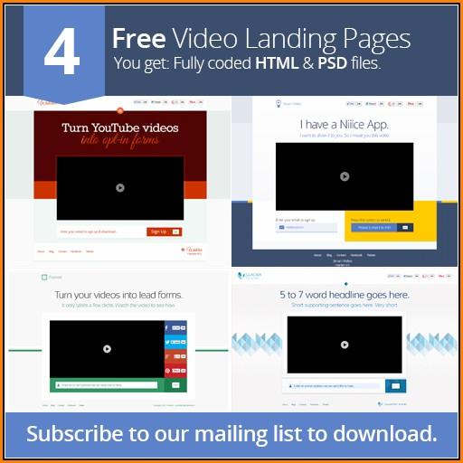 Video Landing Page Templates Free