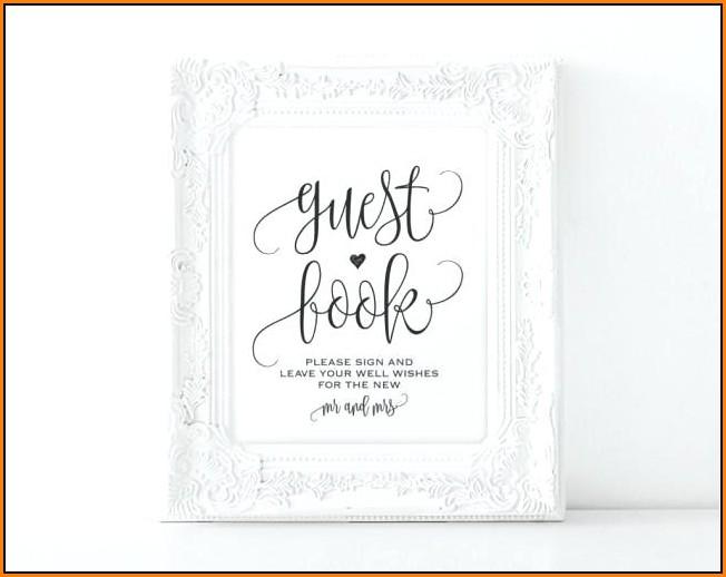 Wedding Guest Book Sign Template