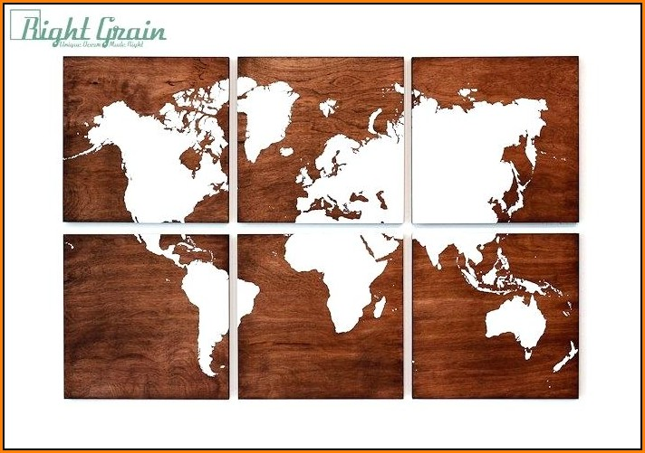 Wooden World Map For Wall In India