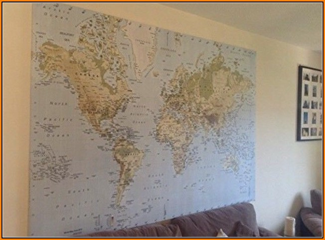 World Map Canvas Ikea For Sale