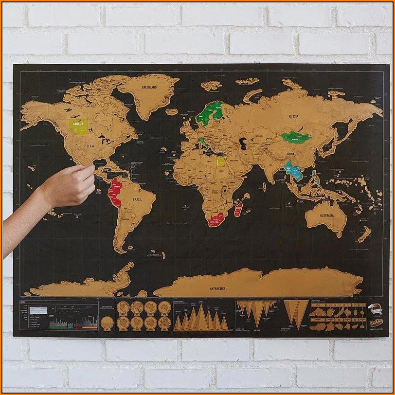 World Travel Map Pinboard India