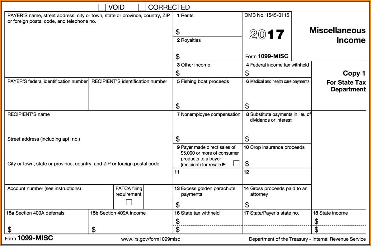 1099 Tax Form 2017
