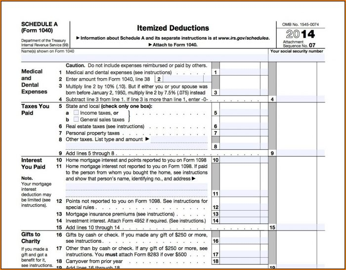 2014 Tax Forms 1040a