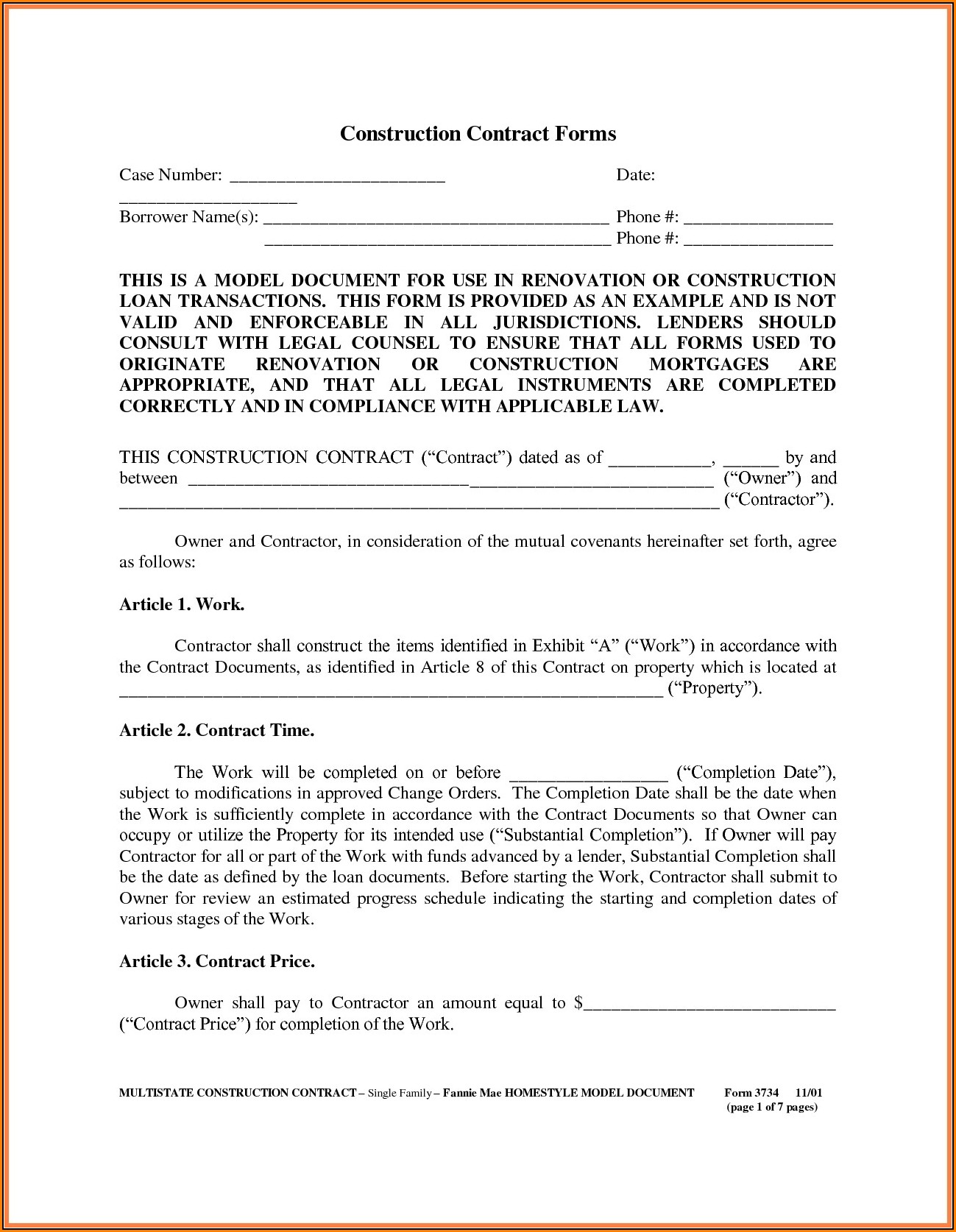 Aia A305 Form Free Download