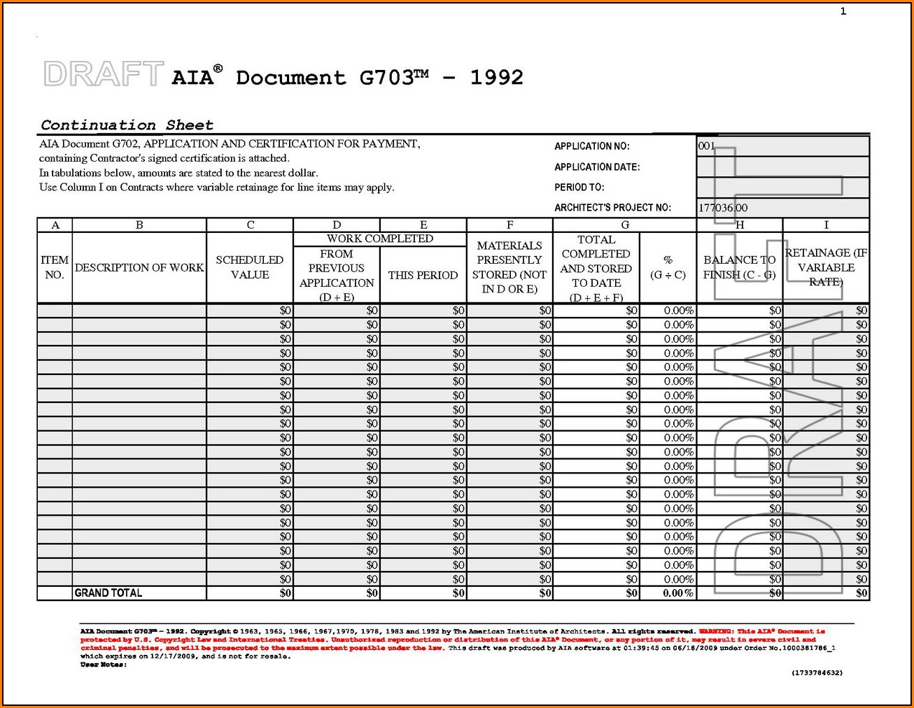 Aia Form G703 Excel