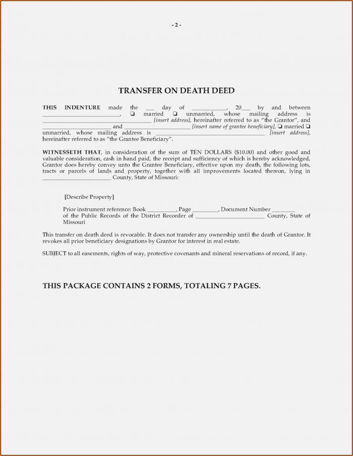 Arizona Beneficiary Deed Form