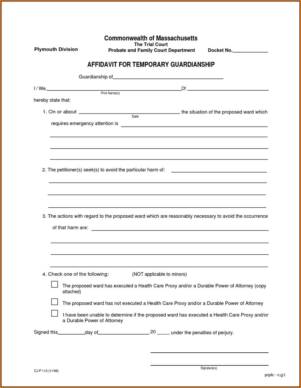 Arizona Guardianship Forms