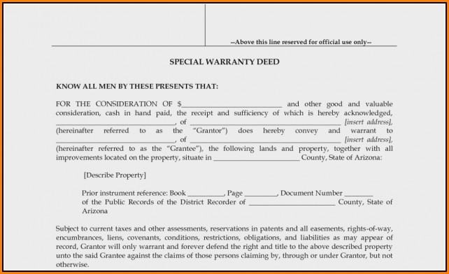 Arizona Quit Claim Deed Form Pdf Maricopa County