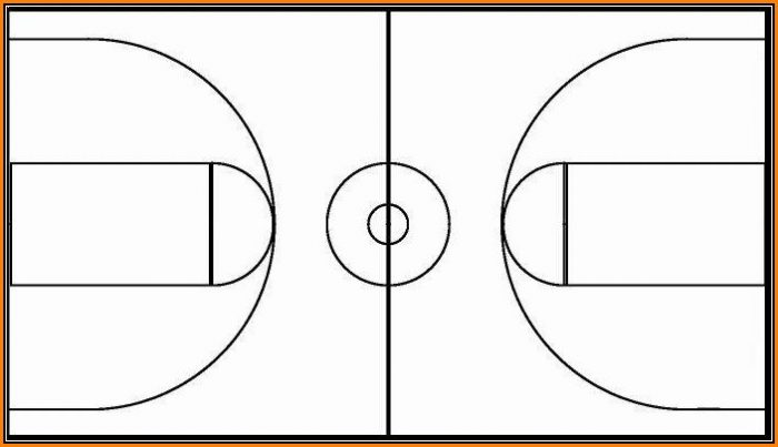 Basketball Court Design Template