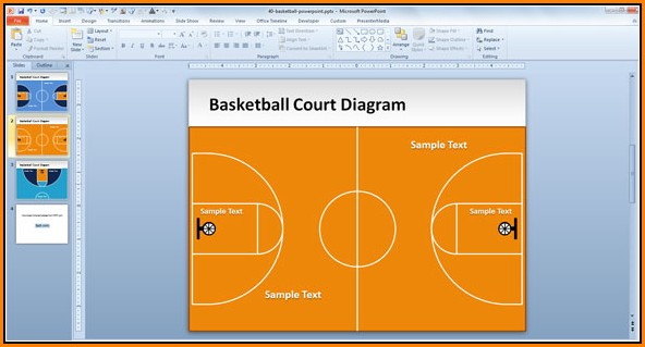 Basketball Court Powerpoint Template