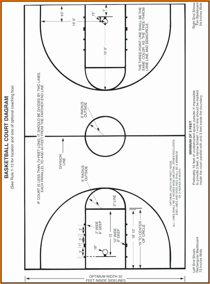 Basketball Court Template For Word
