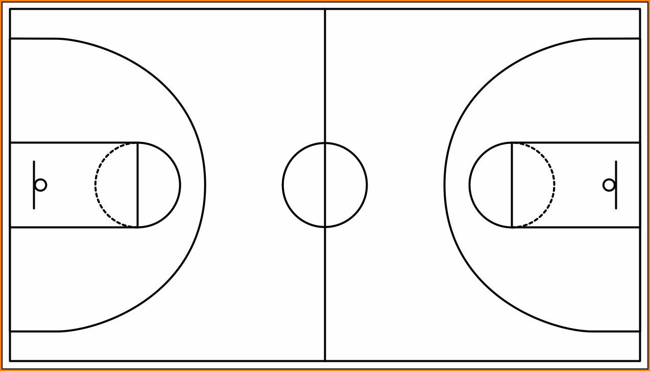 Basketball Court Template Pdf