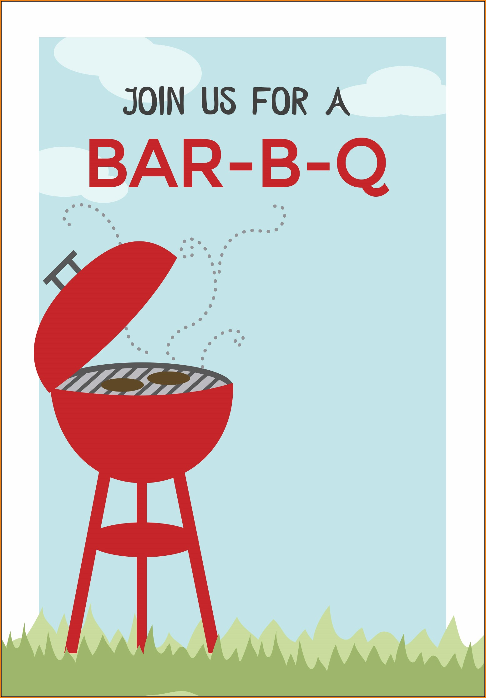 Bbq Party Invitation Template