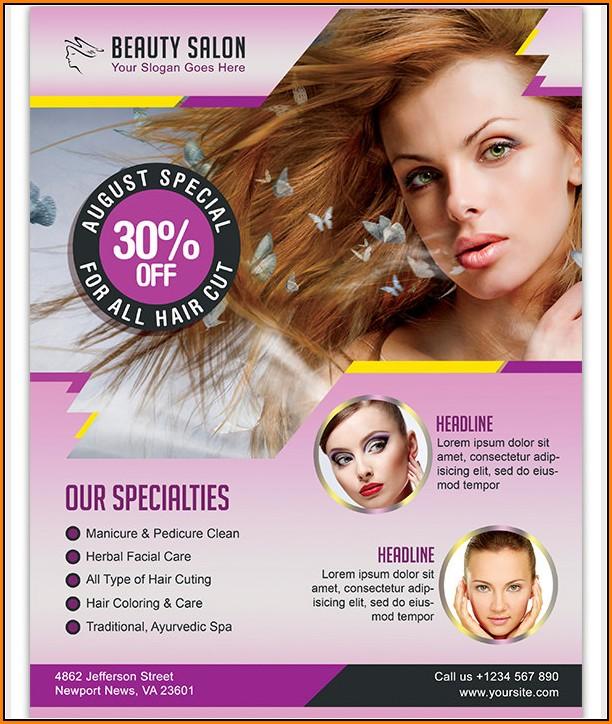 Beauty Parlour Brochure Templates Free Download