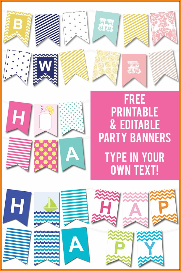 Birthday Banner Template Free