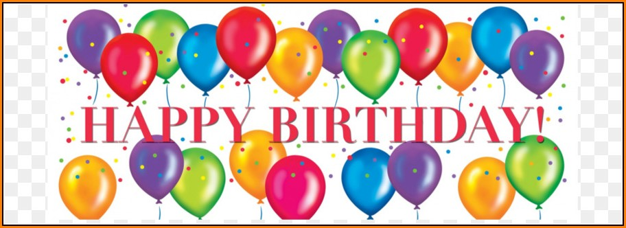Birthday Banner Template Png