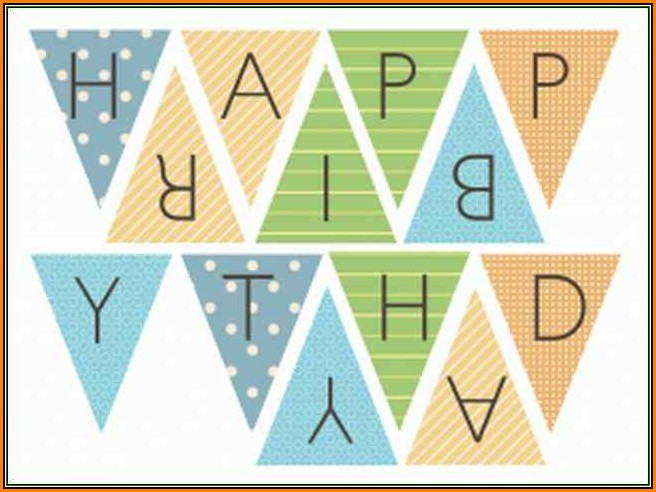 Birthday Banner Template Printable