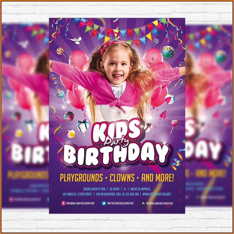 Birthday Flyer Templates For Microsoft Word