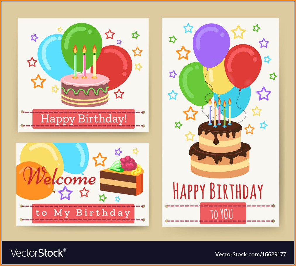 Birthday Greeting Card Templates