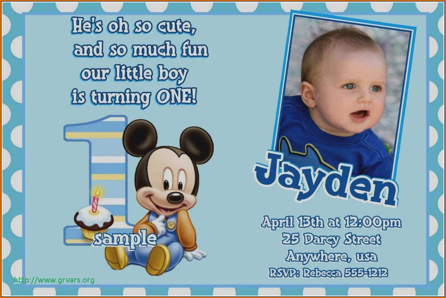 Birthday Invitation Card Template For Boy