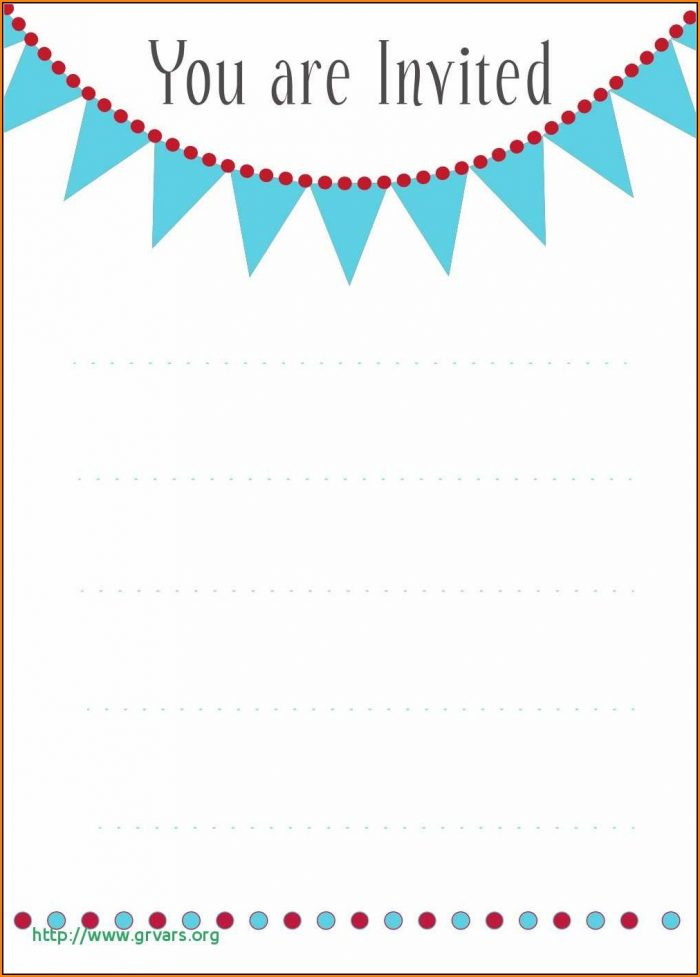 Birthday Invitation Card Template With Photo