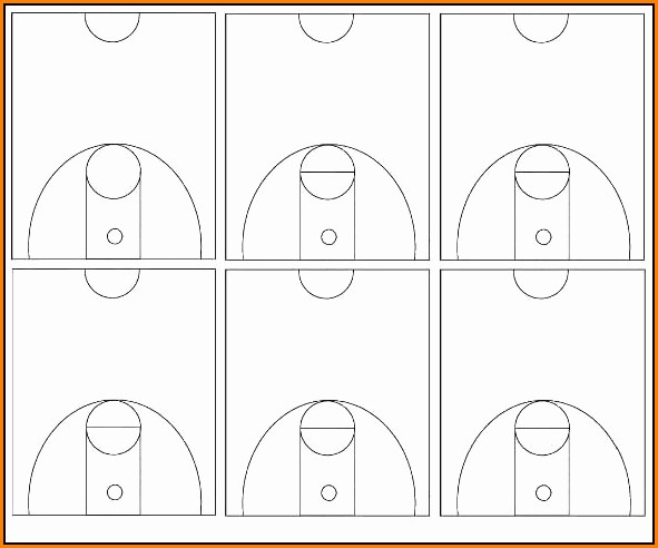 Blank Basketball Court Template