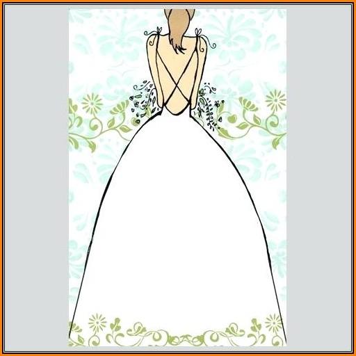 Blank Bridal Shower Invitation Template