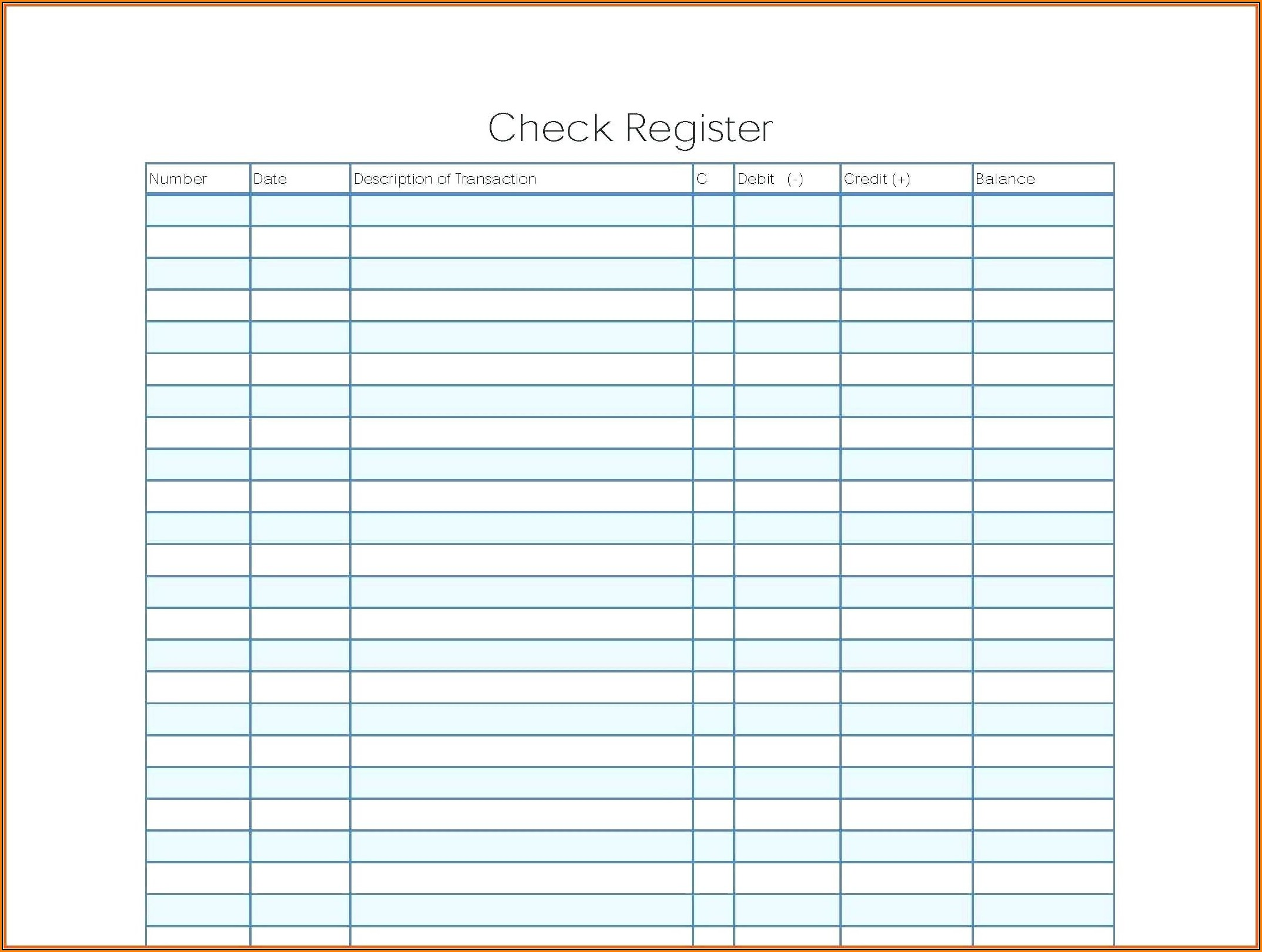 Blank Business Check Template Pdf