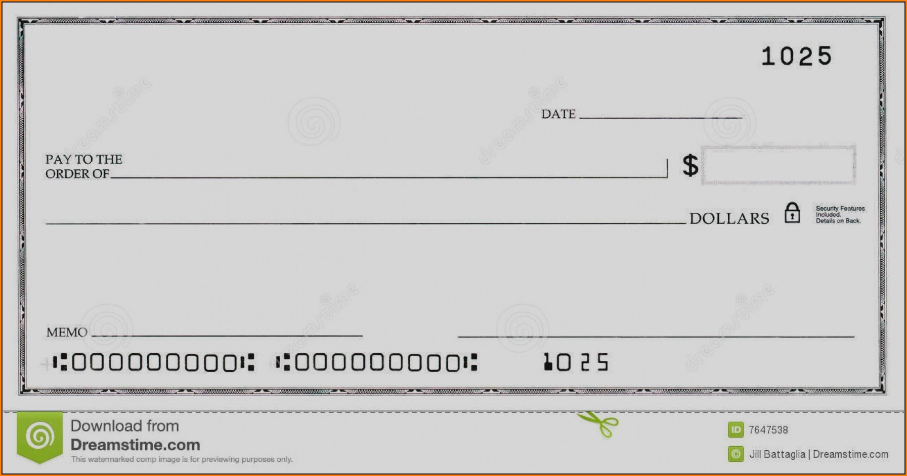 Blank Business Check Template Word